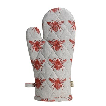Raine & Humble Honey Bee Single Recycled Cotton Oven Glove 32 x 18cm Terracotta