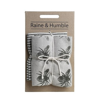 Raine & Humble Recycled Cotton 2-Piece Tea Towel Pack 50 x 70cm Olive Green