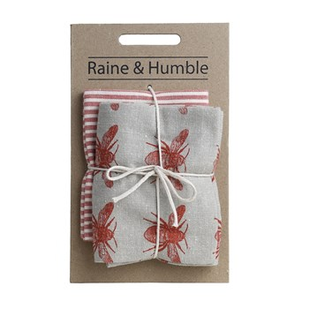 Raine & Humble Recycled Cotton 2-Piece Tea Towel Pack 50 x 70cm Terracotta