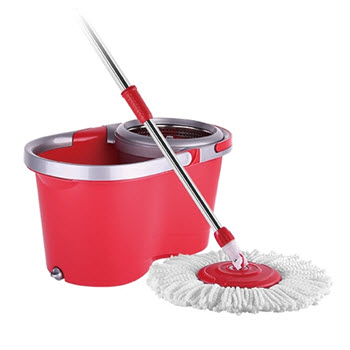 Flymop Super 8S Spin Red Microfibre Mop