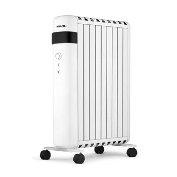 Heller Oil-Free Electric Column Heater with Adjustable Thermostat White 2000W 68 x 13 x 50cm