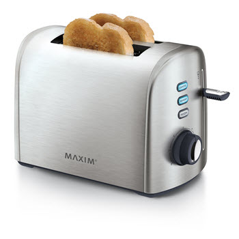 Maxim Automative Stainless Steel Toaster 2 Slice