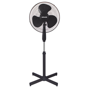 Heller Pedestal Fan Black 40cm