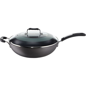 Tefal Hard Anodised Specialty 32cm Wok with Lid
