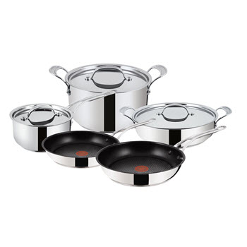 Jamie Oliver by Tefal Premium Stainless Steel 5 Piece Cookware Set