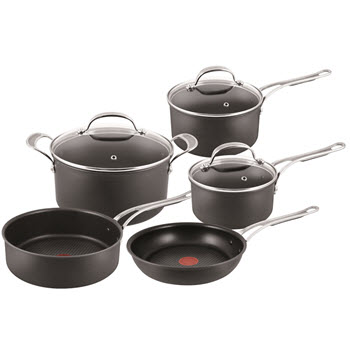 Jamie Oliver by Tefal Premium Hard Anodised 5 Piece Cookware Set