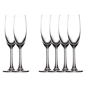 Maxwell & Williams Cosmopolitan 160ml Champagne Flute Glasses Set of 6