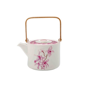 Christopher Vine Pink Jungle 700ml Teapot Orchid