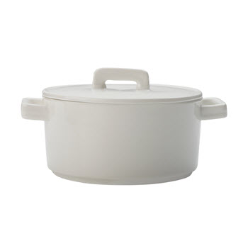 Maxwell & Williams Epicurious White Round Casserole 500ml Gift Boxed