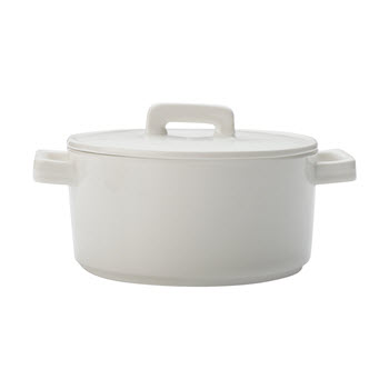 Maxwell & Williams Epicurious White Round Casserole 1.3L Gift Boxed