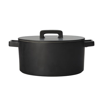 Maxwell & Williams Epicurious Black Round Casserole 1.3L Gift Boxed