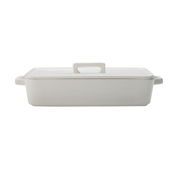 Maxwell & Williams Epicurious White Baker with Lid 32x22.5x7cm Gift Boxed