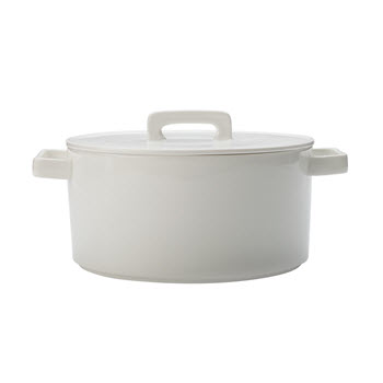 Maxwell & Williams Epicurious White Round Casserole 2.6L Gift Boxed