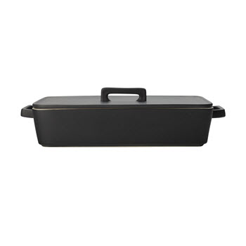 Maxwell & Williams Epicurious Baker with Lid 32x22.5x7cm Black Gift Boxed
