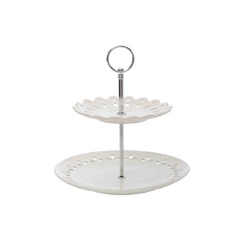 Maxwell & Williams Lille 2 Tier Cake Stand