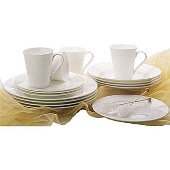 Maxwell & Williams Cashmere 16 Piece Rim Dinner Set
