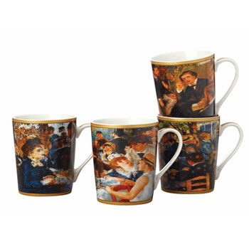 Casa Domani Impressions Renoir 400ml Mugs Set of 4 Gift Boxed