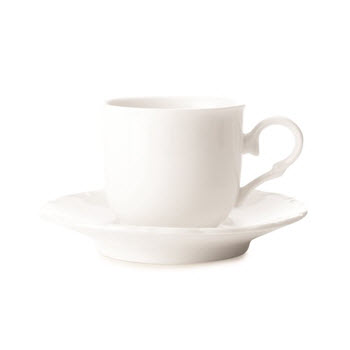 Casa Domani Casual White Florence 80ml Demi Cup & Saucer