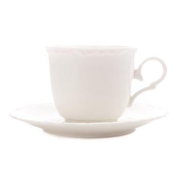 Casa Domani Casual White Florence 200ml Cup & Saucer