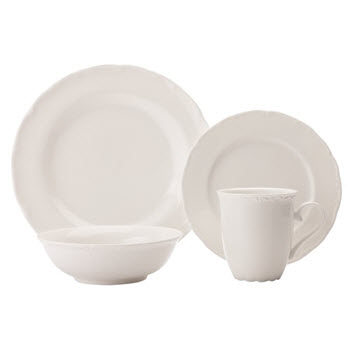 Casa Domani Casual White Florence 16 Piece Dinner Set Gift Boxed