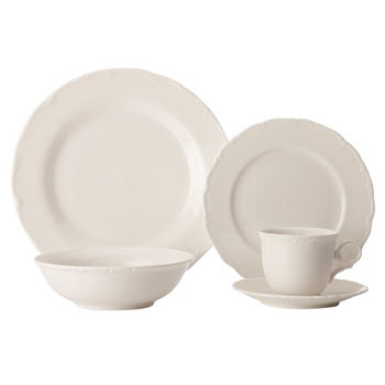 Casa Domani Casual White Florence 20 Piece Dinner Set Gift Boxed