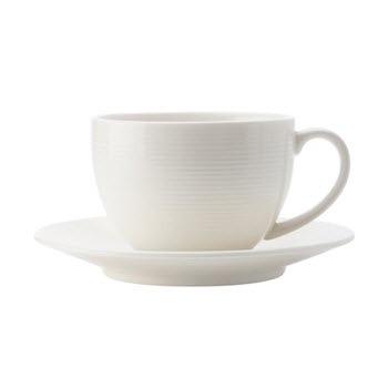Casa Domani Casual White Evolve 200ml Coupe Cup & Saucer