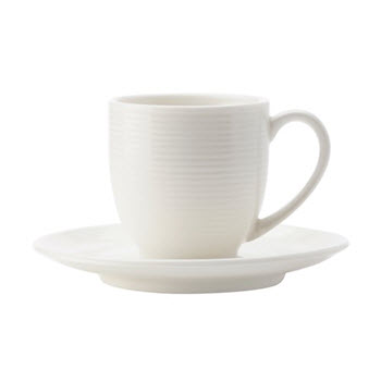 Casa Domani Casual White Evolve 100ml Demi Cup & Saucer