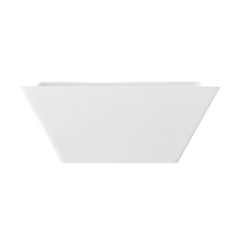 Casa Domani Causal White Evolve Square 14cm Bowl