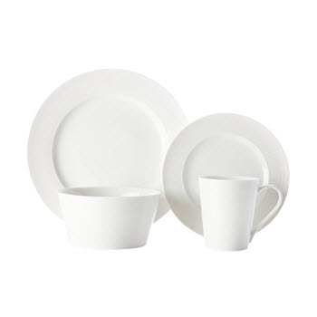 Casa Domani Casual White Evolve 16 Piece Dinner Set