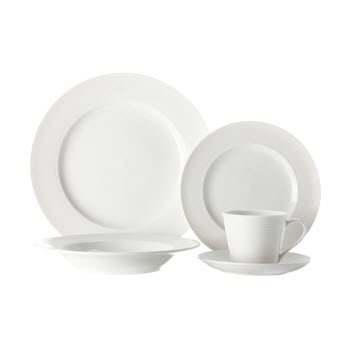 Casa Domani Casual White Evolve 20 Piece Dinner Set