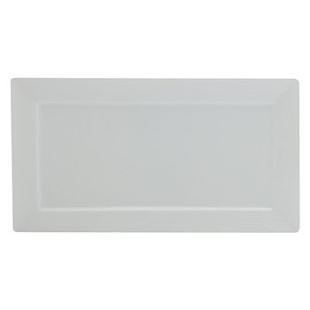 Casa Domani Casual White Evolve 36 x 20cm Rectangle Platter Gift Boxed