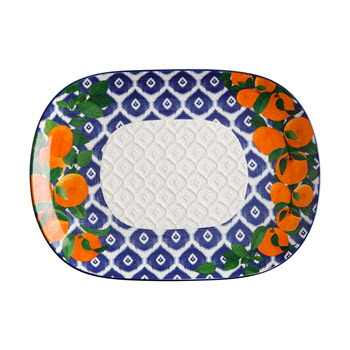 Maxwell & Williams Positano Oblong Platter 45x33cm Arancia