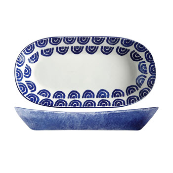 Maxwell & Williams Suomi Ceramic Oblong Bowl Gift Boxed 43 x 22cm