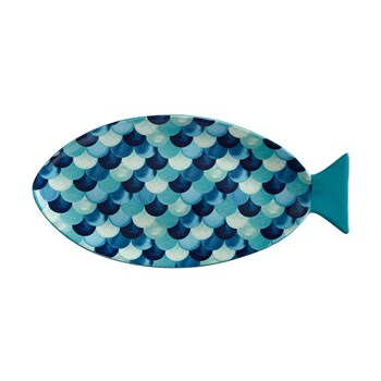 Maxwell & Williams Reef Fish Serving Platter 40cm Blue Scales