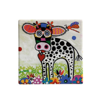 Maxwell & Williams Smile Style Ceramic Tile Coaster Betsy 9cm