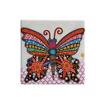 Maxwell & Williams Smile Style Ceramic Tile Coaster Flutter 9cm