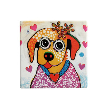 Maxwell & Williams Smile Style Ceramic Tile Coaster Posey 9cm