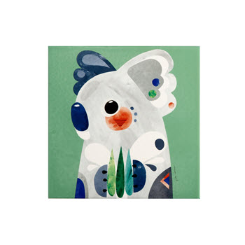 Maxwell & Williams Pete Cromer Ceramic Square Trivet 20cm Koala
