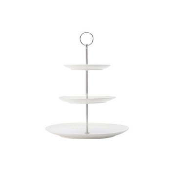 Maxwell & Williams White Basics Diamond 3 Tier Cake Stand