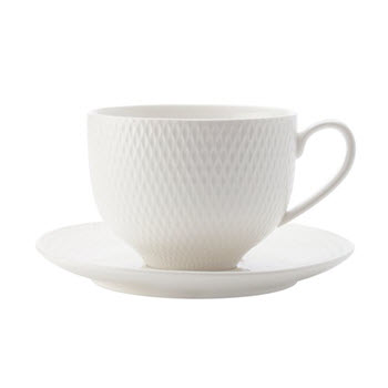 Maxwell & Williams White Basics Diamonds 220ml Cup & Saucer
