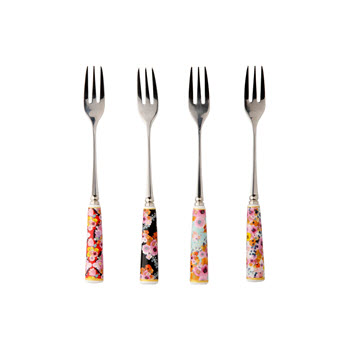 Maxwell & Williams Cashmere Bloems Set of 4 Cake Fork