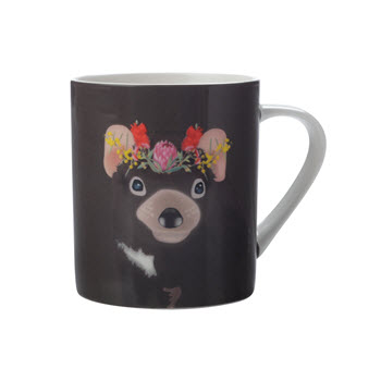 Christopher Vine Beautiful Australians 370ml Mug Tasmanian Devil Gift Boxed