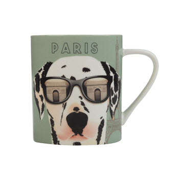 Christopher Vine The Mob International Cities 370ml Mug Paris Gift Boxed
