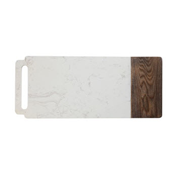 Maxwell & Williams Elemental Ash & Marble 60 x 20cm Handle Board