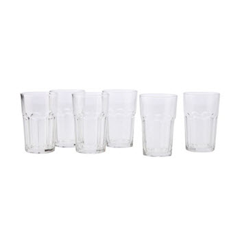 Maxwell & Williams 425ml Faceted Tumblers Set of 6