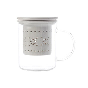Maxwell & Williams Lille 350ml Mug with Infuser Grey