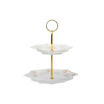 Maxwell & Williams O Christmas Tree 2 Tiered Cake Stand Gift Boxed