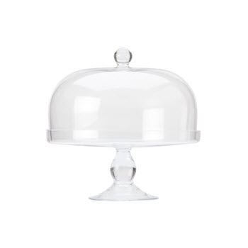 Maxwell & Williams Diamante 30cm Cake Stand With Dome Lid