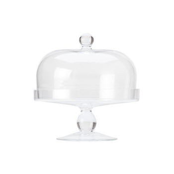 Maxwell & Williams Diamante 20cm Cake Stand With Dome Lid