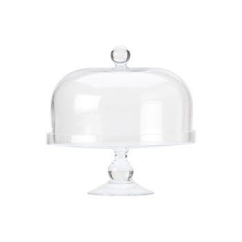 Maxwell & Williams Diamante 25cm Cake Stand With Dome Lid